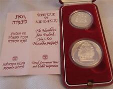 GIFT BOX COA ISRAEL 1987 HADASSAH 75th ANNIVERSARY 12g STERLING SILVER