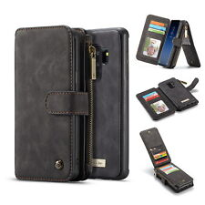 For Samsung Galaxy S9/Plus Leather Removable Wallet Magnetic Flip Card Case