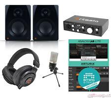 Artesia Audio Interface Mic Speakers Bitwig 8-Track Home Recording Bundle Pack