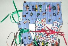 Handmade Crayon Craft Tool Roll-Up Organizer~Crayons Included Mitten-Paw Print