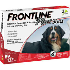 Plus Flea and Tick Treatment for Dogs 3 Doses Extra Large Dog (89-132 lbs.) New
