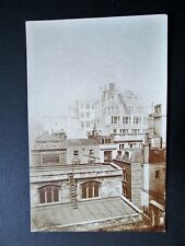 ROOF TOP VIEW OF CRUTCHED FRIARS, GLOBE TAVERN, LONDON - RARE REAL PHOTO (1900s)