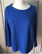 Women's Talbots Cashmere Sweater royal blue