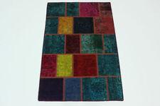 Tapis multicolore pour la maison en 100% laine, 90 cm x 160 cm