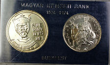 1972 Hungary 50 and 100 Forint Silver Uncirculated Coin Set Stefan Commemorative