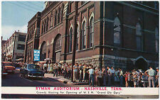 Crowds in Line at Ryman Auditorium, W.S.M. Grand Ole Opry, Nashville, TN