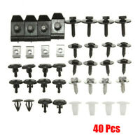 For Toyota 40 Pieces Engine Car Undertray Cover Clip Bottom Shield Guard Screws