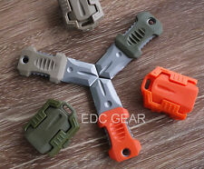 """Pocket Shiv Military Knife Adapter Knuckles MOLLE 1"""" System Self Defence #KHAKI"""