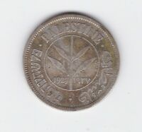 1927 Palestine 50 Fifty Mils Silver Coin Y-158