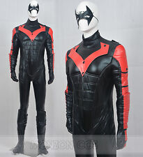 Young Justice Nightwing Red Cosplay Costume For Men Full Set Full Size Outfit