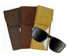 Genuine Leather Glasses Holder Eyeglasses Pocket Slim Card Case Light Weight