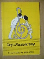 SHAFTESBURY THEATRE PRO 1980-T CONTI,GCRAVEN in THEY'RE PLAYING OUR SONG-N SIMON