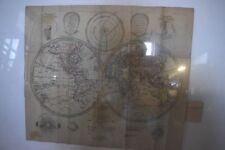 Early 1800 World map In German 23 by 19 inches