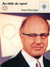 FICHE CARD Avery Brundage International Olympic Committee IOC JO CIO 70s
