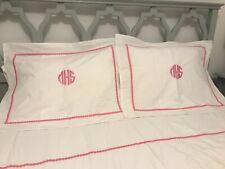 Pottery Barn Teen Pillow Sham (2) Standard / Monogrammed mHs Pop Dot Pink