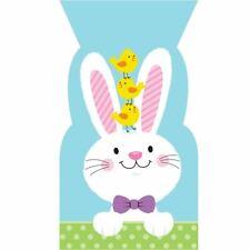 6 X Easter Bunny Conejo cereza en bolsa de celofán Celofán Dulce Bolsas De Regalo huevo favor tratar