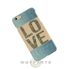 Apple iPhone 6/6s Plus Candy Skin Faded Blue Jeans Love Patch Case Cover Shell
