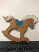 Vintage Hand Painted Wooden Horse Toy Hanging Coat Rack Pony Toy 13x10""