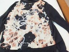 DKNY WOMENS Black LONG SLEEVE TOP SIZE S - NEW W/TAGS