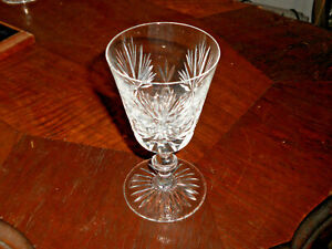 "Star of Edinburgh 5"" Cut Crystal Wine Glass, Cut Stars, Cut Foot 5"" tall"