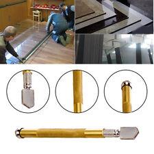 New 1Pc Skidproof Golden Diamond Handle Steel Blade Oil Feed Glass Cutter Tool