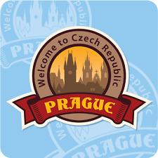 """Prague Czech Republic Welcome City Travel Car Bumper Sticker Decal 5"""" x 5"""""""