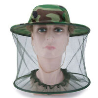 Anti-Mosquito Net Hat Mesh Cap Mask Face Protection For Outdoor Camping Fishing