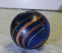 #10774m Larger .79 Inches Blue Glass Coreless Swirl Marble
