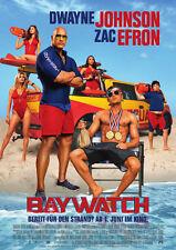 BAYWATCH - Orig.Kino-Plakat A1 - Dwayne Johnson, Zac Efron - Hauptmotiv- Gerollt