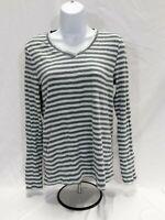 Women's Medium Aqua / Gray Eddie Bauer Knit Top