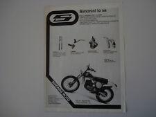 advertising Pubblicità 1976 MOTO SIMONINI 125 REGOLARITA' LONG RANGE S