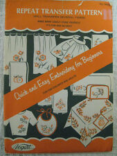 Vintage Vogart Quick & Easy Hot Iron EmbroideryTransfers Pattern for Beginners