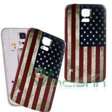 Cover copri batteria Bandiera Americana pr Samsung Galaxy S5 G900F neo G903F