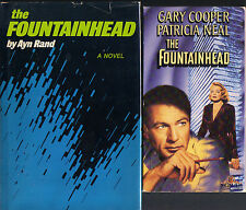 Lot of 2 HC/DJ & VHS Ayn Rand The Fountainhead Architect Gary Cooper Roark