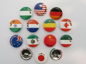 48 FLAGS AROUND THE WORLD PINS party favors mini button pins world flag