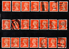 Great Britain, 1st, 21 stamps, 3 issues