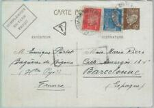 81985 - FRANCE - Postal History - STATIONERY CARD sent from SPANISH REFUGEE 1942