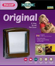 Staywell 730 PetSafe 2 Way Locking Cat Flap Small Dog Pet Door Brown Catflap