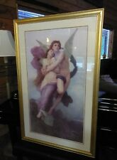 """Large William Adolphe Bouguereau The Abduction of psyche. 42-1/2"""" X 27"""""""