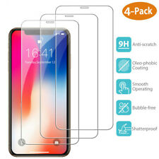4x For iPhone 11 Pro X XR XS Max 8 7 6 Plus HD Tempered Glass Screen Protector