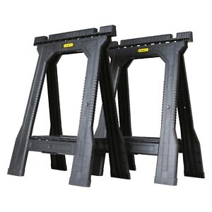 Stanley Folding Sawhorse - Twin Pack NEW