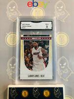 2011 Hoops Lebron James #272 - 9 MINT GMA Graded Heat Basketball Card