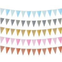 Kids Favors Birthday Party Party Decor Bunting Garland Wavy Banner Paper Flag