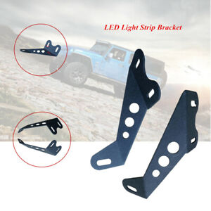 2PCS/set Off-road Vehicle Roof LED Light Strip Upper Bar Mounting Bracket Kit