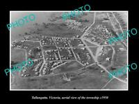 OLD LARGE HISTORIC PHOTO OF TALLANGATTA VICTORIA, AERIAL VIEW OF TOWN c1950 2