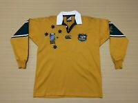 Canterbury Wallabies Jersey ~ Medium ~ Australia Rugby Team 2003 World Cup L/S