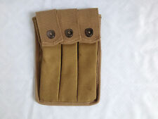 WWII US MILITARY AMRY THOMPSON MAGAZINE POUCH 3 CELL 20 ROUNDS  -U449