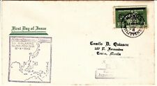 12 AUG. 1942 WW2 FDC Japanese Occupation Pacific Islands Stamp 5c Philippines