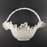 1984 Burwood Prod Wall Basket White Hobnail Plastic Home Interior Vintage Decor