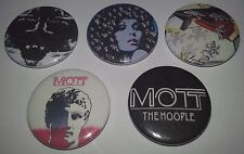 5 Mott the Hoople Pin Button Badges Glam Rock T Rex Sweet All The Young Dudes